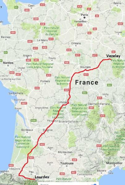 Vezelay France Map.Ralphs Website